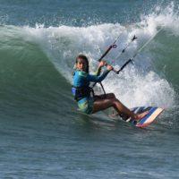 delphine macaire surf kite