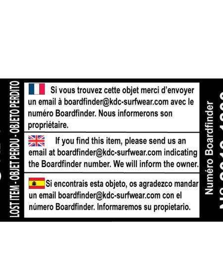 Boardfinder Sticker d'identification