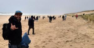 Nettoyage de plage à Lacanau