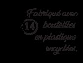 Bouteille plastique recyclée