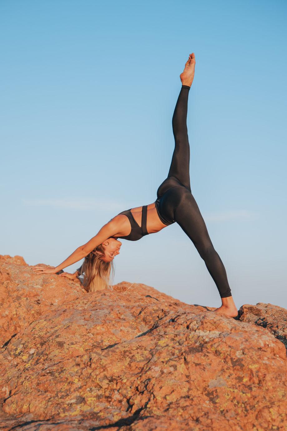 Legging pour yoga recyclé noir
