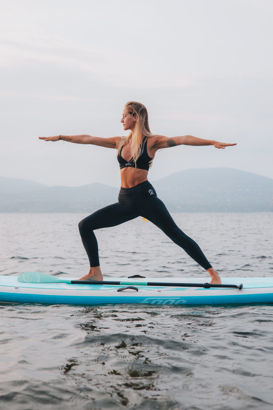 ensemble yoga paddle recyclé noir