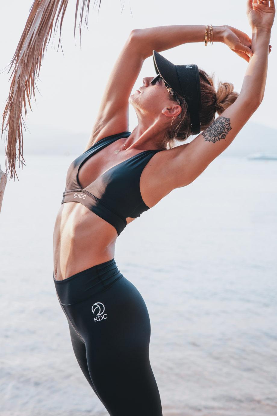 set legging brassier yoga recyclé noir