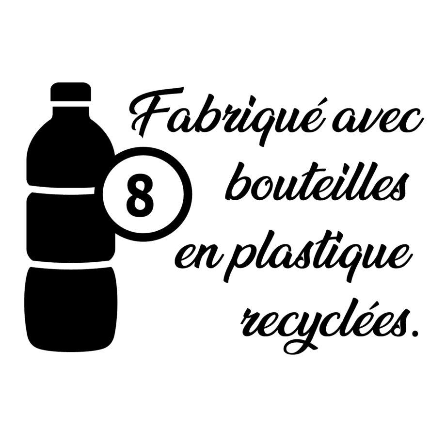 Boardshort femme KDC fabriqué avec 8 bouteilles-plastique
