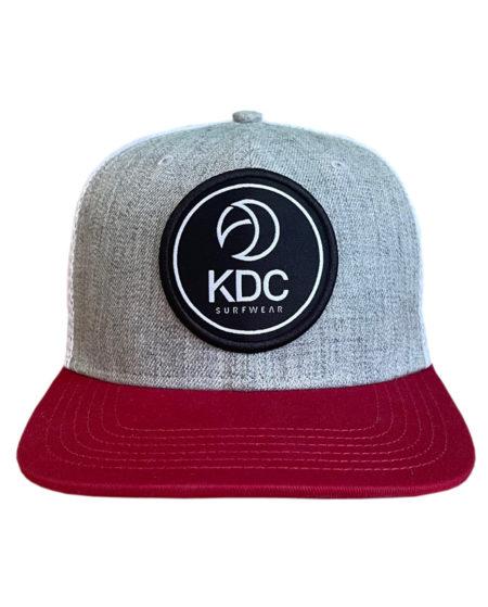 Snapback KDC surfwear grise et rouge bordeaux